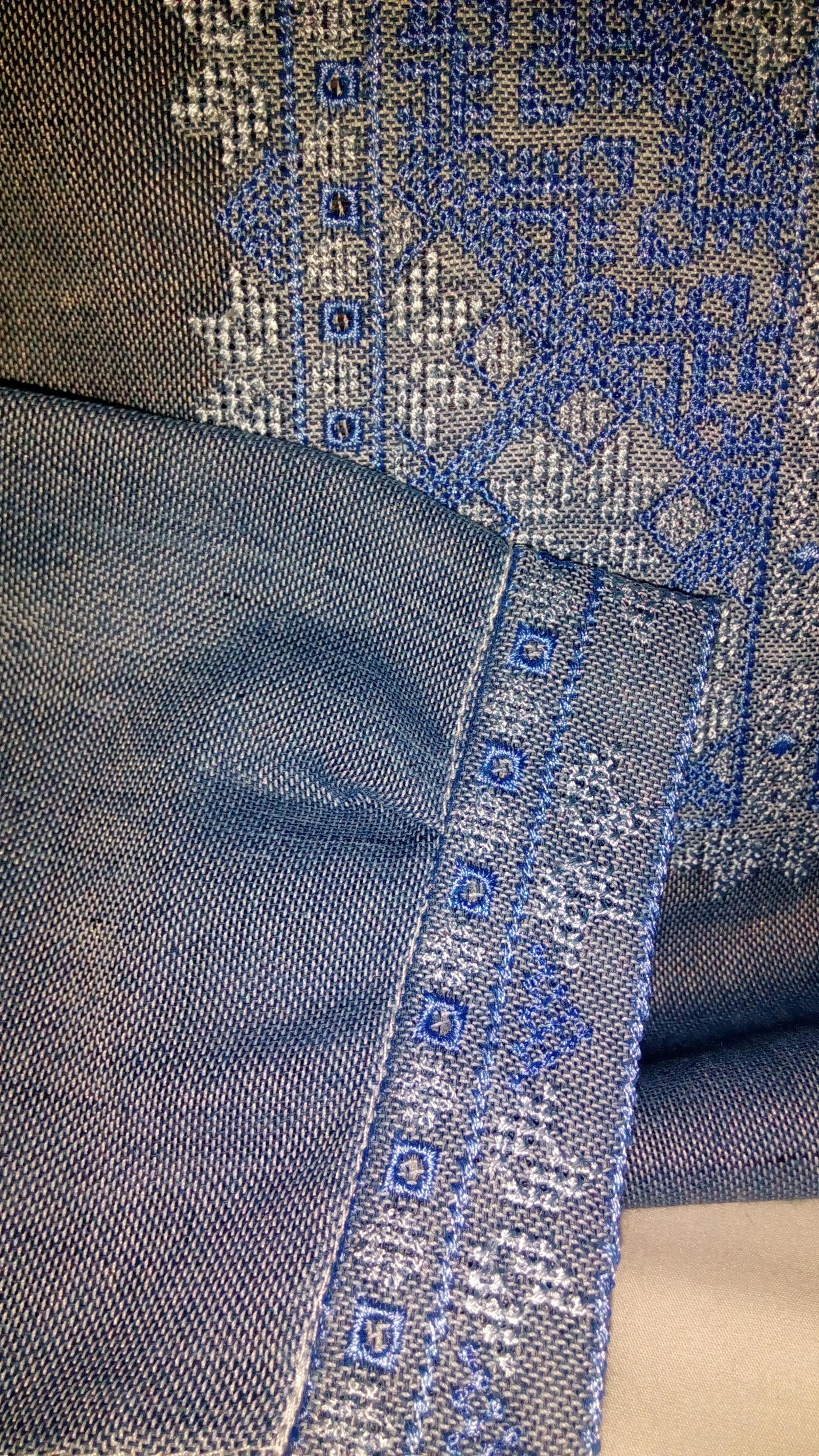вишиванка чоловіча безпосередньо на домотканому полотні під джинс (Арт.  01865) f9851ec7e4901