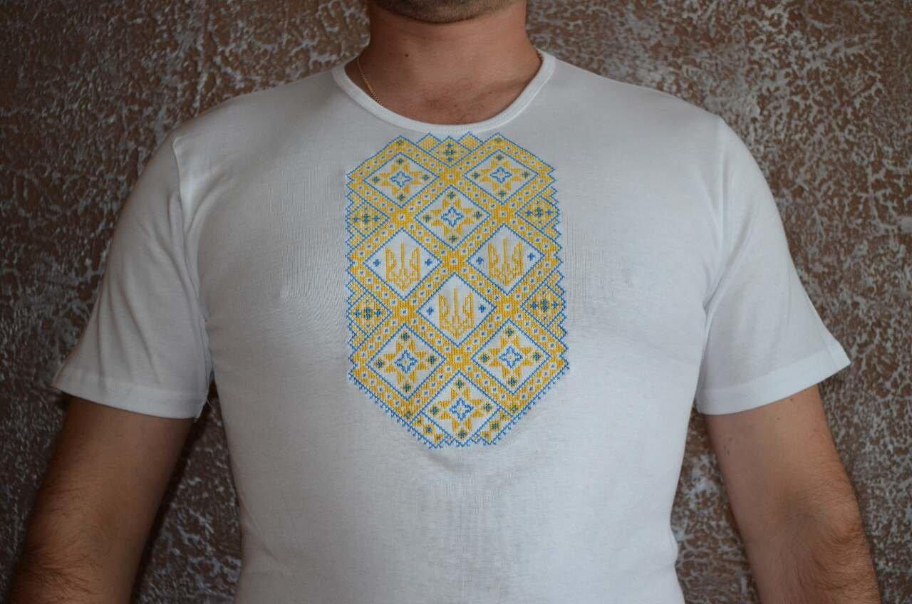футболка чоловіча з патріотичною вишивкою (Арт. 01921) 065d7b6afbe13