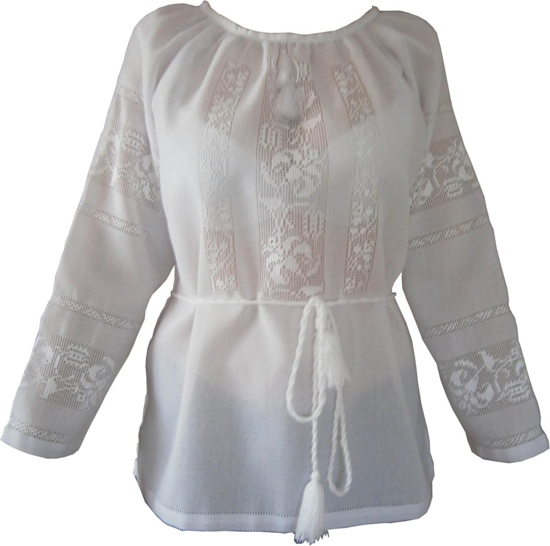 вишиванка жіноча білим по білому (Арт. 00362) d0986cf9e80a7