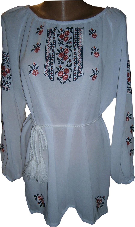 вишиванка жіноча з квітами (Арт. 00498) 80788376d5973