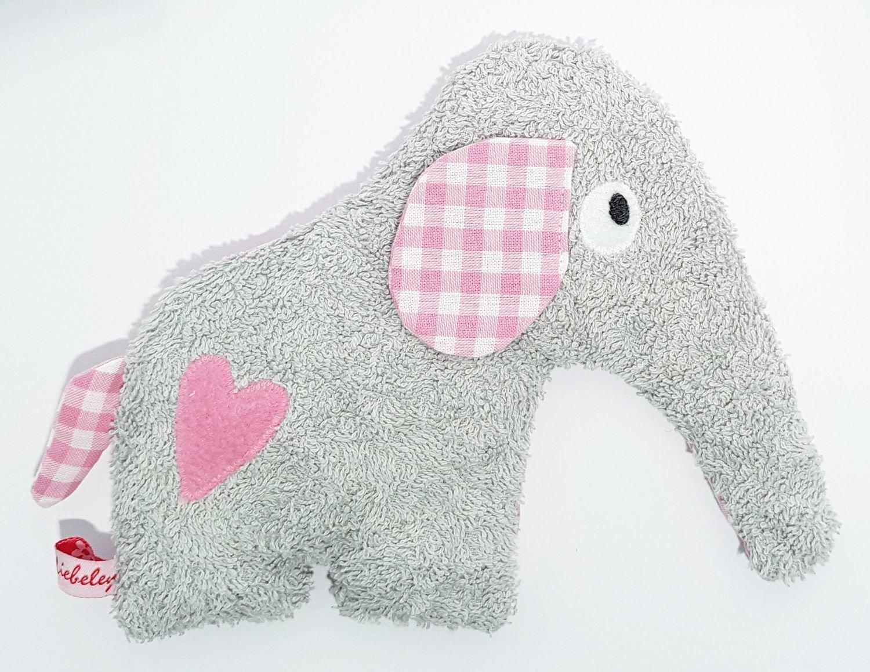 Dinkelelefant    grau/rosa