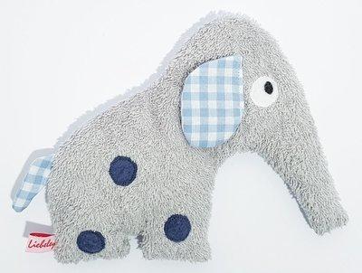 Dinkelelefant    grau/blau