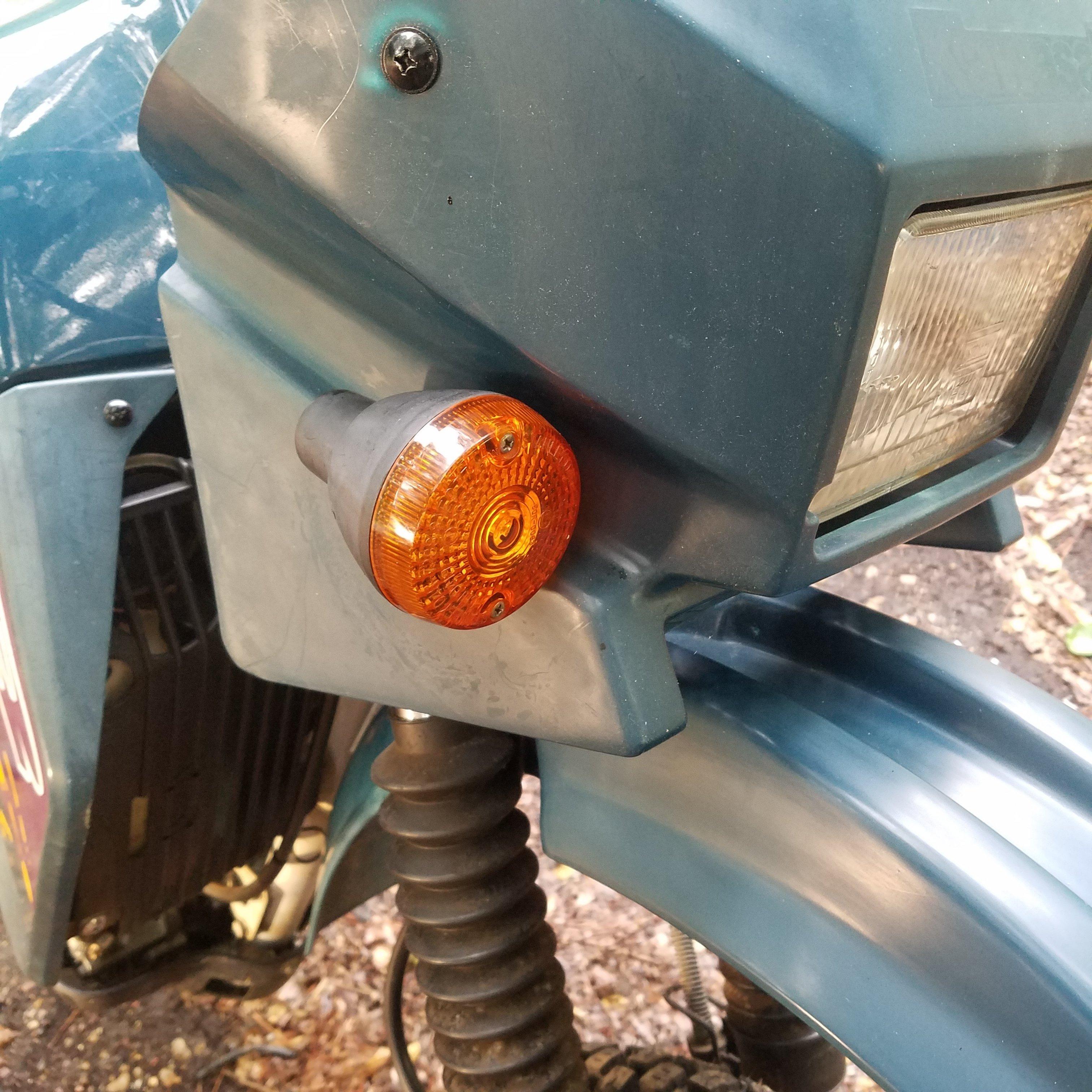 1987-2007 KLR 650 Turn Signal Stalk Delete Kit Fix broken /& sagging blinkers!