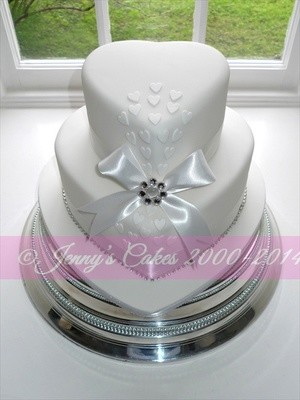 Gretna two-tier Heart Shaped Wedding Cake