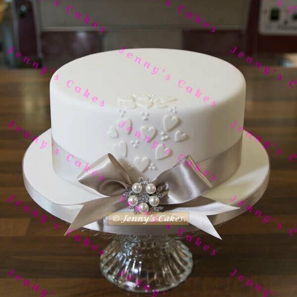 Terrific Gretna One Tier Vintage Style Wedding Cake Wedding Cake Shop Personalised Birthday Cards Epsylily Jamesorg