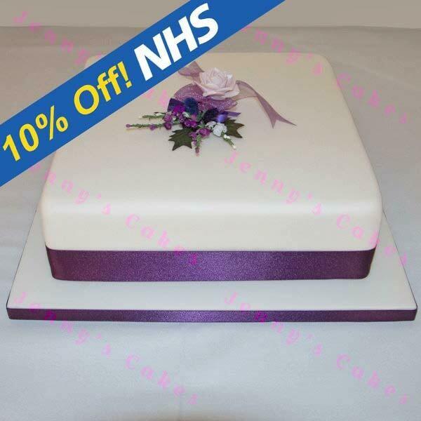 Gretna Large Single-tier Square Scottish Wedding Cake
