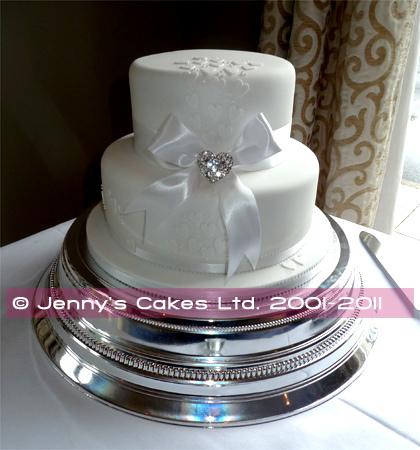 gretna two-tier Vintage style Wedding Cake jc-G18-2Va