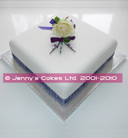 Gretna Large Single-tier Square Scottish Wedding Cake