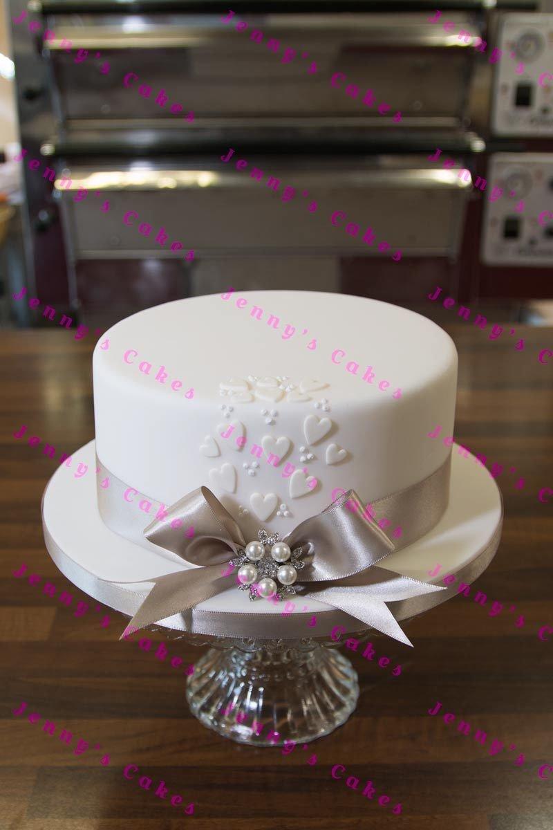 gretna one-tier Vintage style Wedding Cake jc-G18-1Va