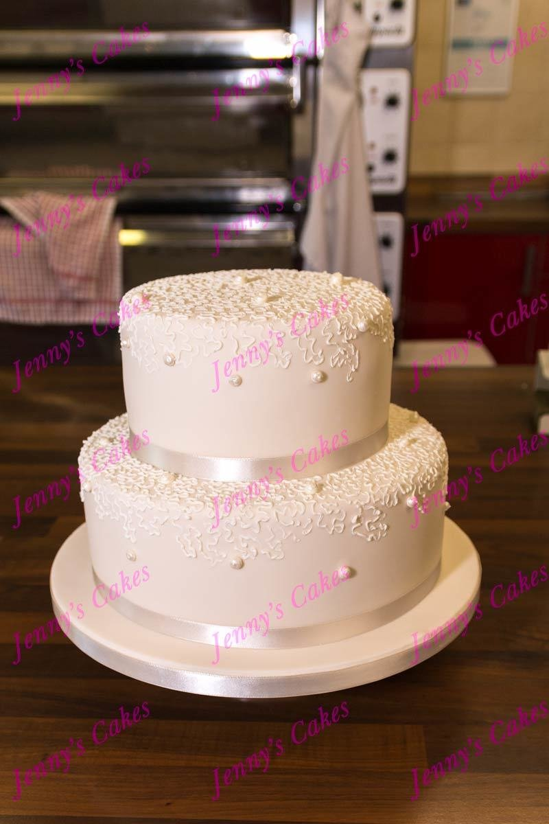 gretna two-tier cake with  Piped Pearls jc-G18-2Rp