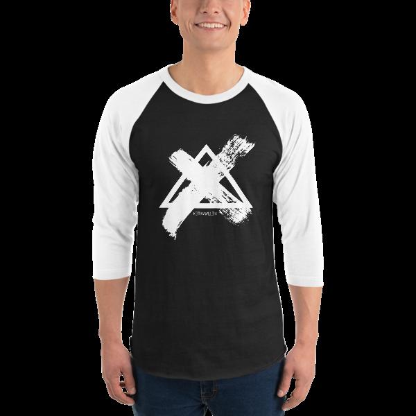3/4 Sleeve B&W Brush Shirt