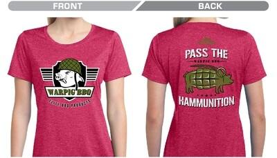 Ladies Pink Ham Grenade Shirt (pre-Sale)