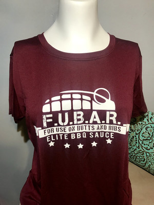 Ladies Maroon FUBAR Elite Tee