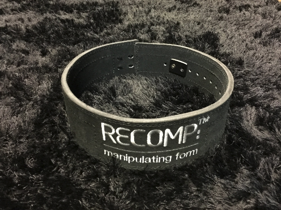 Recomp Lever Lifting Belt - Black with Matte Black Lever