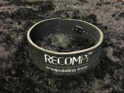 Recomp Lever Lifting Belt - Black with Matte Black Lever