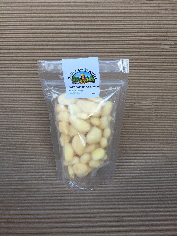 Bulbe d'ail bio pelé congelé 200 g