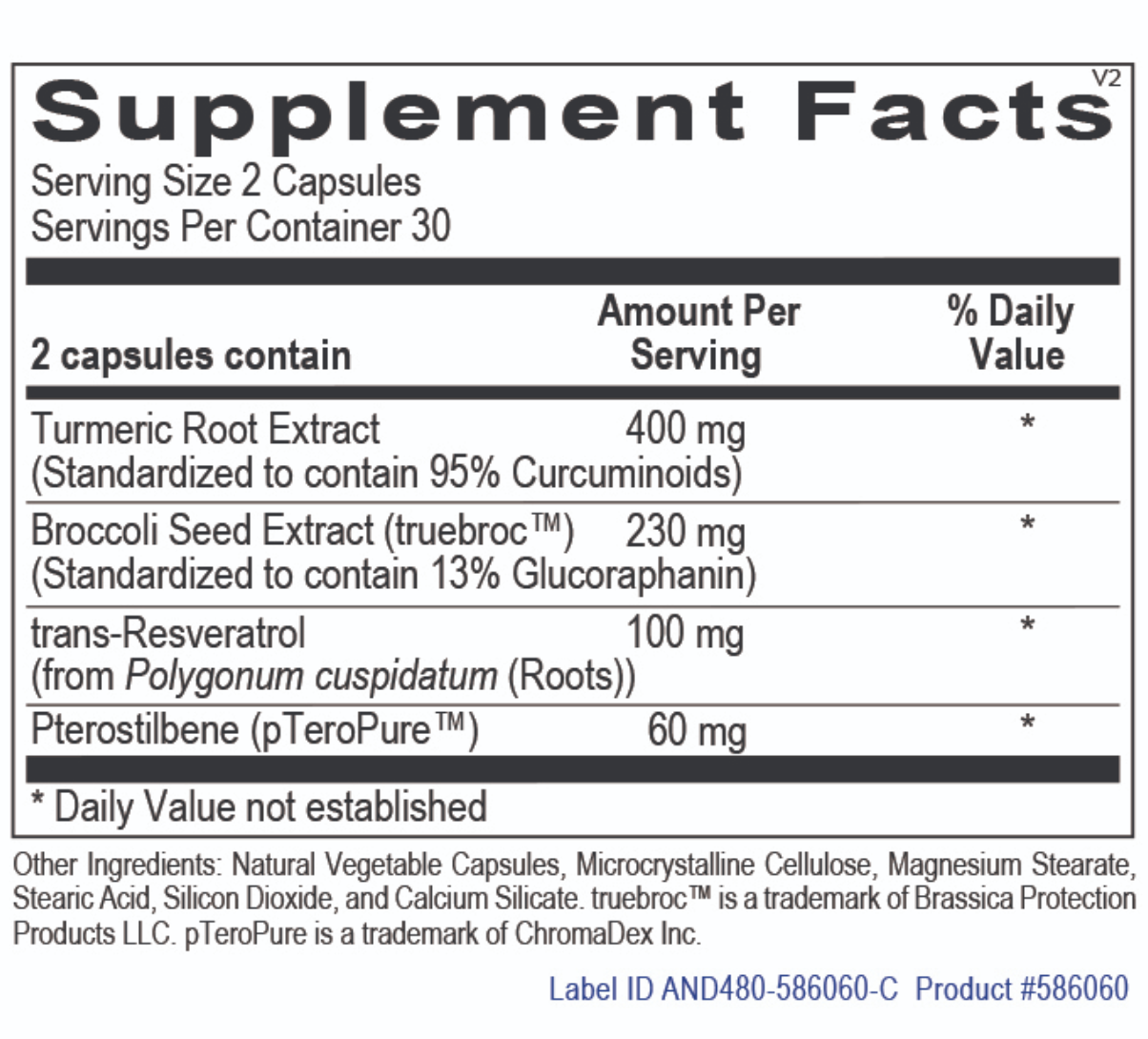 Anti Ox - Glucoraphanin and Curcumin