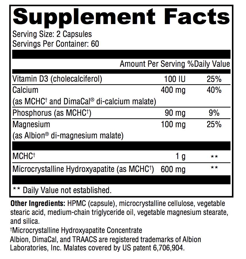 Bone Support -MCHC, Calcium and Magnesium