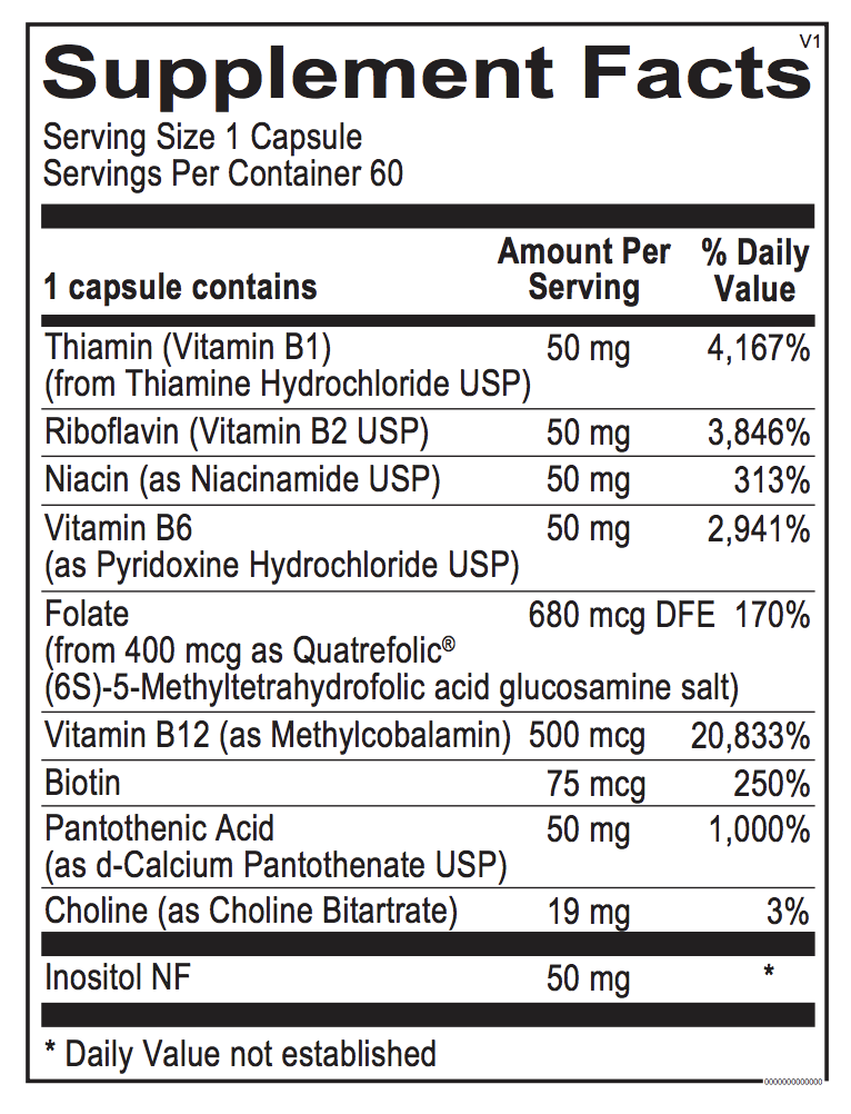 Optimum B's - Folate, B12 and Biotin