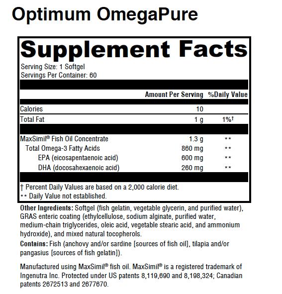 Optimum OmegaPure -EPA and DHA
