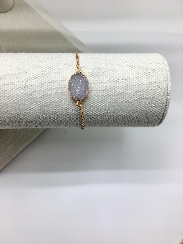 Purple Stone Adjustable Bracelet