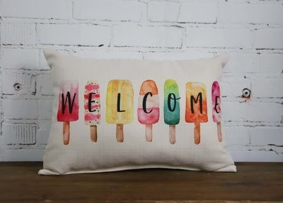 Welcome Popsicles Pillow