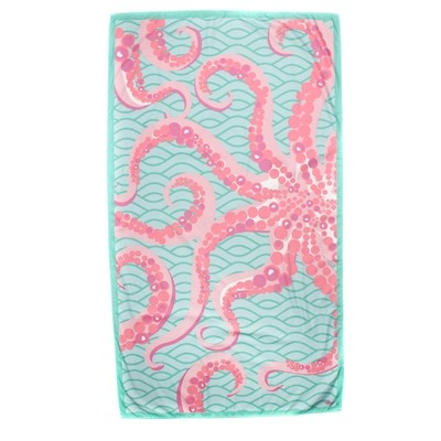 Microfiber Octopus Mint Towel
