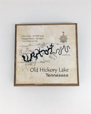 Old Hickory Lake Wood Block