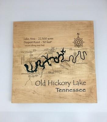 Old Hickory Lake Large Wood Block