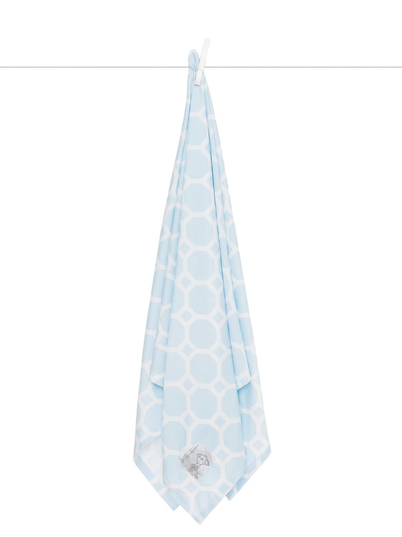 Airie Promenade Blue Swaddle Blanket