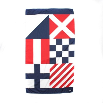 Microfiber Nautical Flag Towel