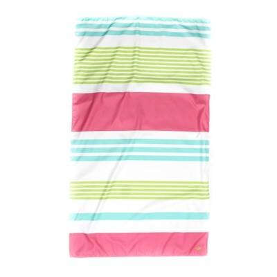 Microfiber Paradise Stripe Aqua/Lime/Pink