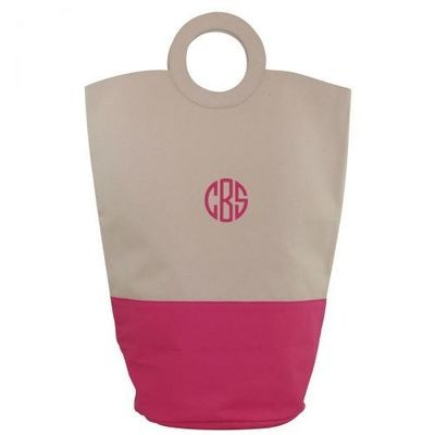 O Laundry Hamper Tote-Hot Pink