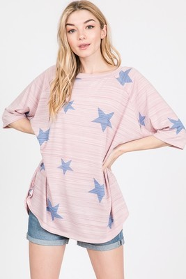 Oversized Star Print Top