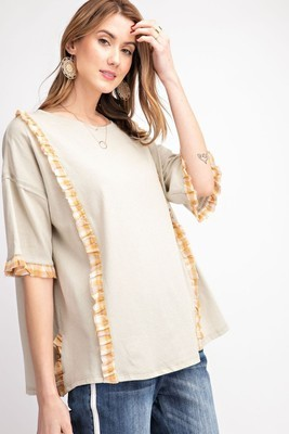 Knot Top with Ruffle Detail