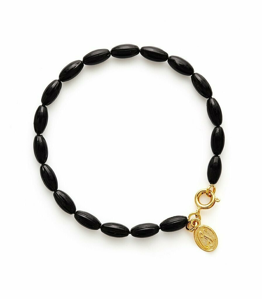 Black Charleston Rice Bead Bracelet