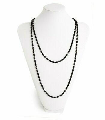 Black Charleston Rice Bead Necklace