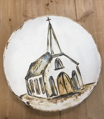 Large Church Plate