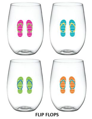Flip Flops Wine-Oh Goblets