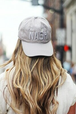 Tonal NASH Ball Cap- Light Grey