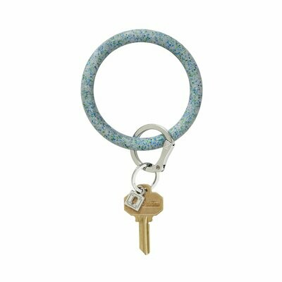 Blue Frost Confetti Silicone Key Ring