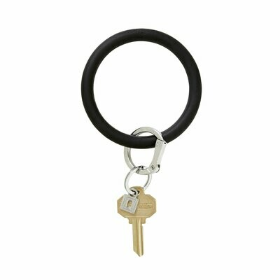 Black Silicone Key Ring