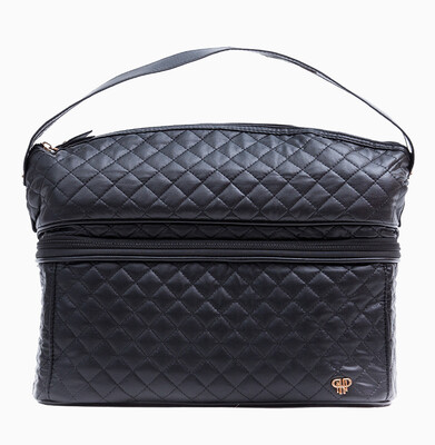 Black Quilted Stylist Bag