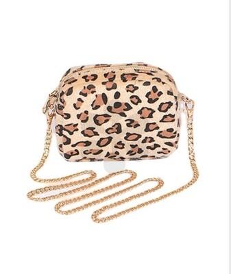Small Leopard Crossbody-Beige