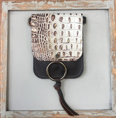 Belt Bag Cream Croc