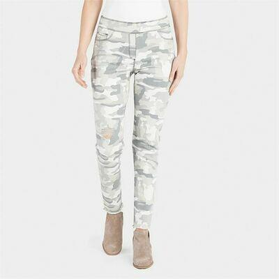 Camo Distresed Skinny Jean