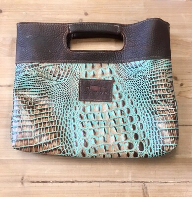 Simple Tote Turquoise Crocodile