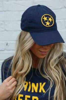 Navy/Gold Tristar Ball Cap