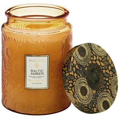 Baltic Amber Voluspa Large Glass Jar