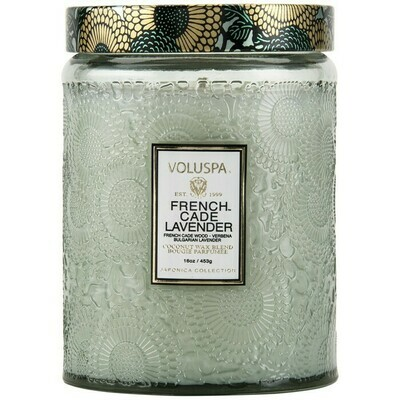 French Cade Lavender Voluspa Large Glass Jar